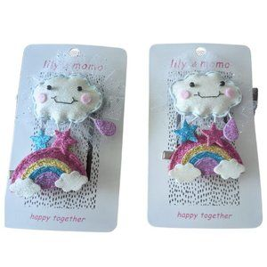 Adorable Baby Girls Kids Toddlers Happy Hair Clips